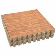 vidaXL Skyddsmatta 12 st träådringar 4,32 kvm EVA-skum