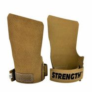 Strength Free Finger Grips Brown Leather - Medium
