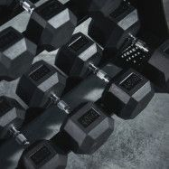 Bauer Fitness Hexagon Rubber Encased Dumbbells Set 2,5 kg - 40 kg