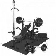 Multigym BASIC Black 100kg - Viktpaket Lats Gymgolv
