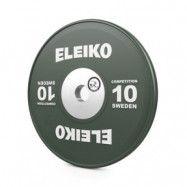Viktskiva WPPO Powerlifting Competition, 10 kg, grön, Eleiko