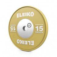 Viktskiva WPPO Powerlifting Competition, 15 kg, gul, Eleiko