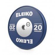 Viktskiva WPPO Powerlifting Competition, 20 kg, blå, Eleiko