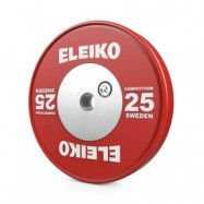 Viktskiva WPPO Powerlifting Competition, 25 kg, röd, Eleiko