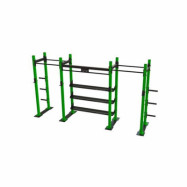 POWER RACK WITH SHELVES 2-1
