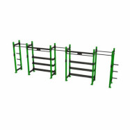 POWER RACK WITH SHELVES 3-2