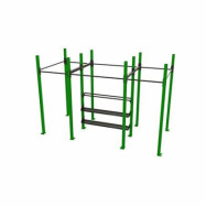 POWER RACK WITH SHELVES 4-1