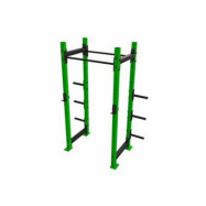 SQUAT RACK AND CAGE WITH PULL UP BAR