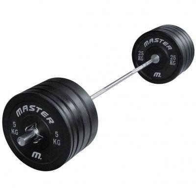 Master Fitness Skivstångsset Crossfit 140 kg, Skivstångset