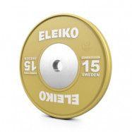 Viktskiva IWF Weightlifting Competition, 15 kg, gul, Eleiko